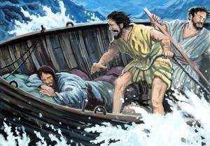 jesus in boat